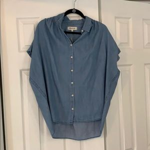 Madewell NWT button down denim shirt
